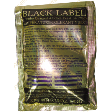 Levadura Black Label Turbo 14%