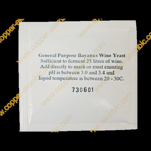 General Bayanus Wine Yeast