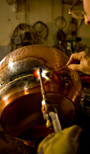 Welding belly of alembic copper still