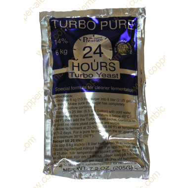 Levadura Turbo Pure 24 Horas 14%