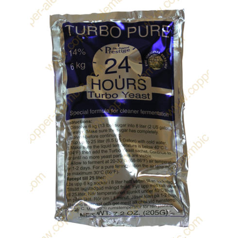 Levure Turbo Pure 24 Heures 14%