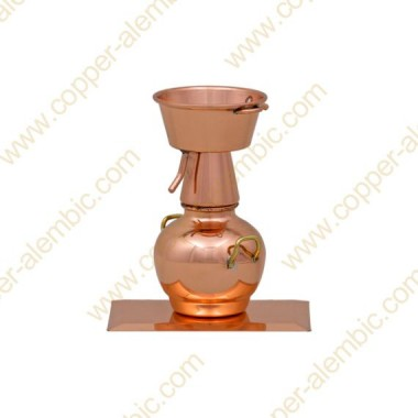 Mini Alquitar Still aus Kupfer (Kupferbasis)