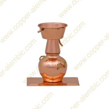 Miniature Alquitarra en Cuivre et Base