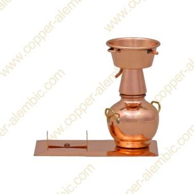 Mini Alquitar Still aus Kupfer (Flaschenhalter)