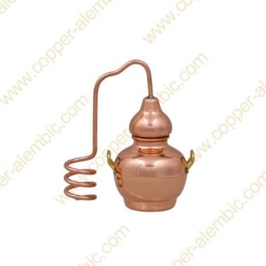 Mini Destillierkolben aus Kupfer (ohne Basis)