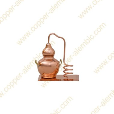 Mini Destillierkolben aus Kupfer (ohne Behälter)