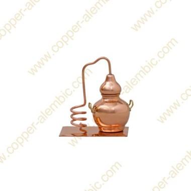 Miniature Copper Alembic, Serpentine & Base