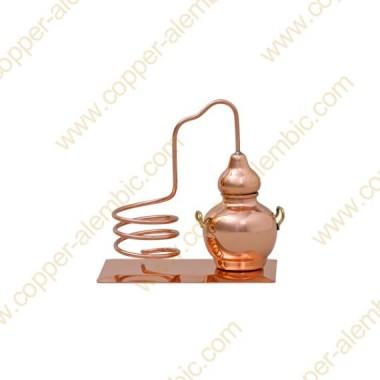 Mini Destillierkolben aus Kupfer (Flaschenhalter)
