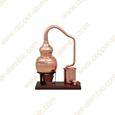 0,25 L Destillierkolben (Holzbasis)