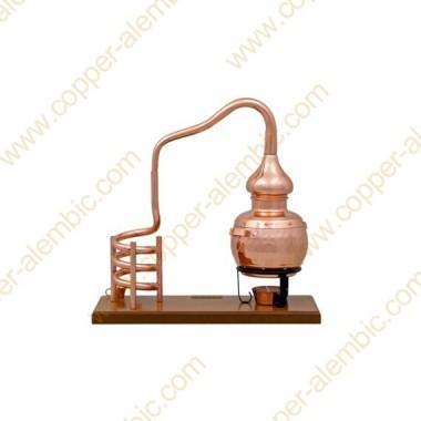 0,7 L Destillierkolben (Holzbasis, ohne Behälter)