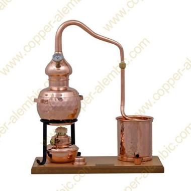 0,7 L Premium Destillierkolben (Alkohol-Lampe, Thermometer)