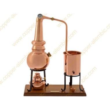 0,7 L Alambique Whiskey Premium, Lamparina e Termómetro
