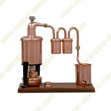 0,7 L Alambic Rhum Premium, Thermomètre et Lampe à Alcool
