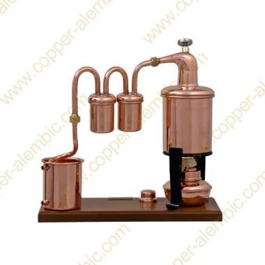 0,7 L Premium Destillierkolben Typ Rum (Thermometer, Alkohol-Lampe)