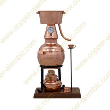 0,7 Liter Alquitar Still (Alkohol-Lampe, Thermometer)