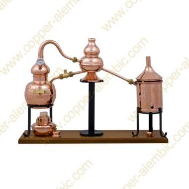 0,7 L Premium Charentais Destillierkolben (Thermometer, Alkohol-Lampe)