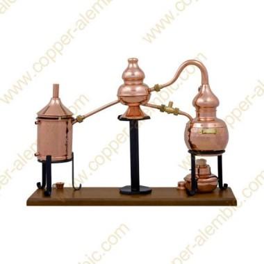 0,7 L Alambic Charentais Premium, Thermomètre et Lampe à Alcool