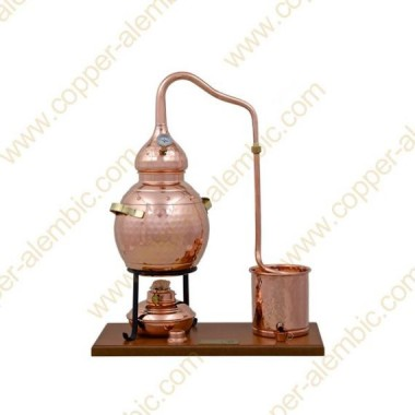 2,5 L Premium Destillierkolben (Thermometer, Alkohol-Lampe)