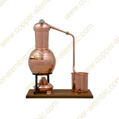 2,5 L Premium Destillierkolben mit Säule (Thermometer)