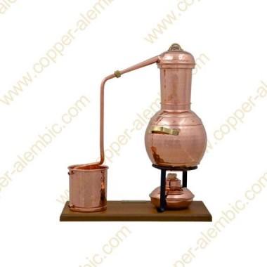 2,5 L Alambic à Colonne Premium, Thermomètre et Lampe à Alcool