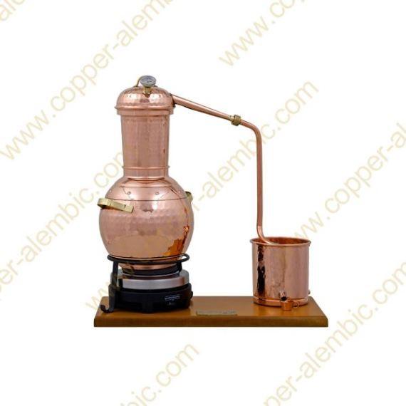 2,5 L Premium Destillierkolben mit Säule (Thermometer, elektrische Platte)