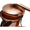 1,25 L Appareil Distillation, Thermomètre et Lampe à Alcool