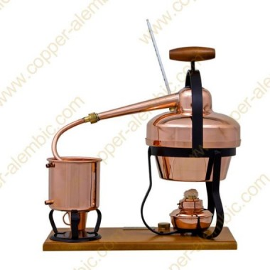 1,25 L Destillierutensil (Thermometer, Alkohol-Lampe)