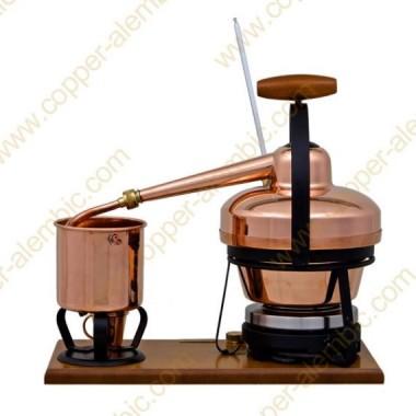 1,25 L Aparato de Destilación Premium, Termómetro y Placa Eléctrica