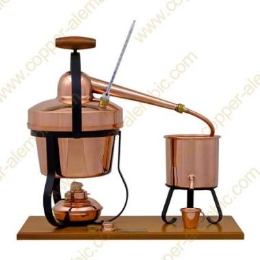2,75 Aparato de Destilación, Termómetro y Lamparita