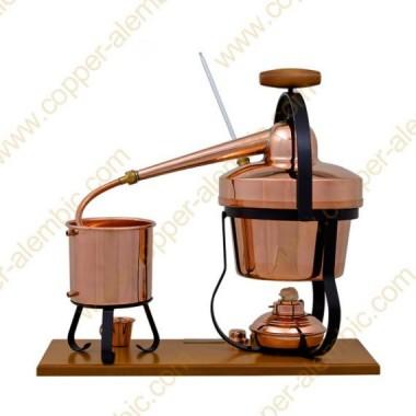 2,75 L Appareil Distillation, Thermomètre et Lampe à Alcool