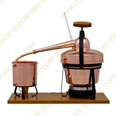 2,75 Aparato de Destilación Premium, Termómetro y Placa Eléctrica