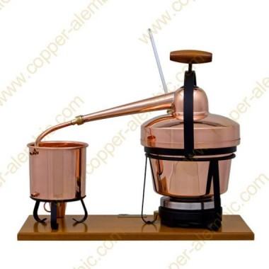 2,75 L Premium Destillierutensil (Thermometer, elektrische Platte)