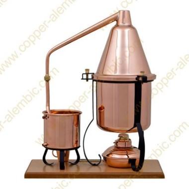 2,5 L Aparelho Destilação e Lamparina