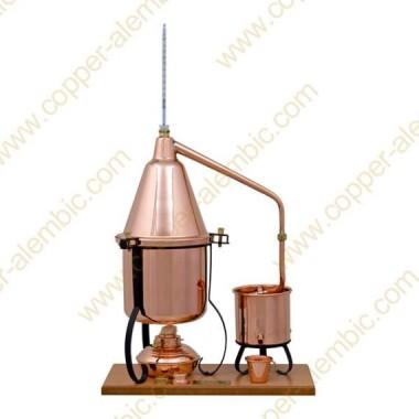 2,5 L Appareil Distillation Premium, Thermomètre et Lampe à Alcool