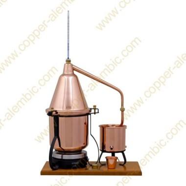 2,5 L Aparelho Destilação Premium, Termómetro e Placa Eléctrica