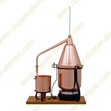2,5 L Aparato de Destilación Premium, Termómetro y Placa Eléctrica