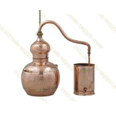 10 L Alambic en Cuivre Kit Distillation Spiritueux