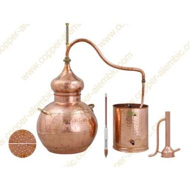 30 L Alambic en Cuivre Kit Distillation Spiritueux