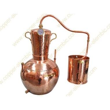 30 L Alambic en Cuivre Pot Bain Marie Kit Prime