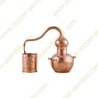 1 L Kupfer-Destillierkolben mit Schweissverbindungen