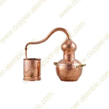 2 L Kupfer-Destillierkolben mit Schweissverbindungen