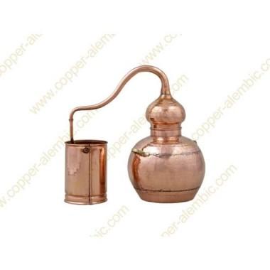 5 L Kupfer-Destillierkolben mit Schweissverbindungen