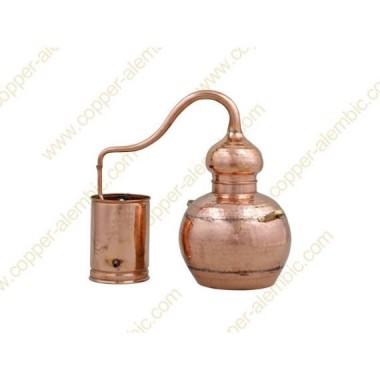 10 L Kupfer-Destillierkolben mit Schweissverbindungen