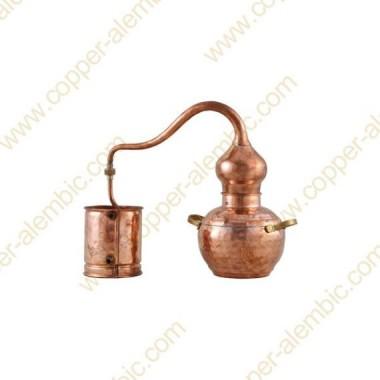 1 L Kupfer-Destillierkolben mit Schweissverbindungen Premium