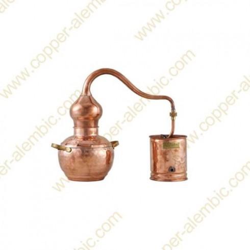 1 L Soldered Copper Moonshine Alembic Still Premium