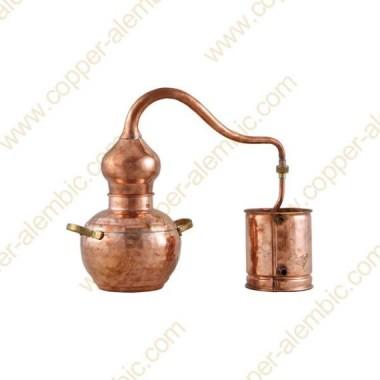 2 L Kupfer-Destillierkolben mit Schweissverbindungen Premium