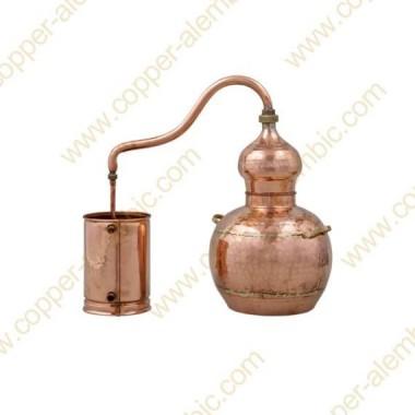 5 L Kupfer-Destillierkolben mit Schweissverbindungen Premium