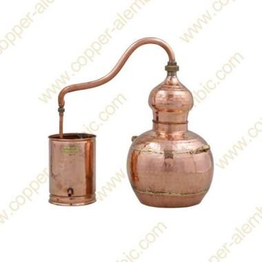 10 L Kupfer-Destillierkolben mit Schweissverbindungen Premium