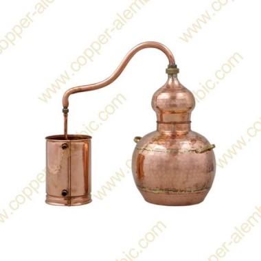 20 L Kupfer-Destillierkolben mit Schweissverbindungen Premium