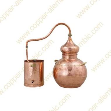 30 L Kupfer-Destillierkolben mit Schweissverbindungen Premium